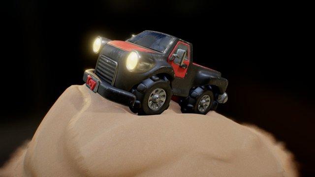 Toy Pickup- Truck (Sandy Update) 3D Model