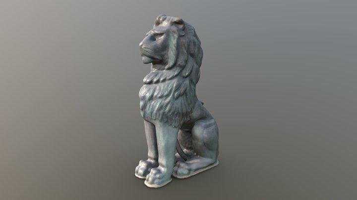 Bronze lion, Penzance 3D Model