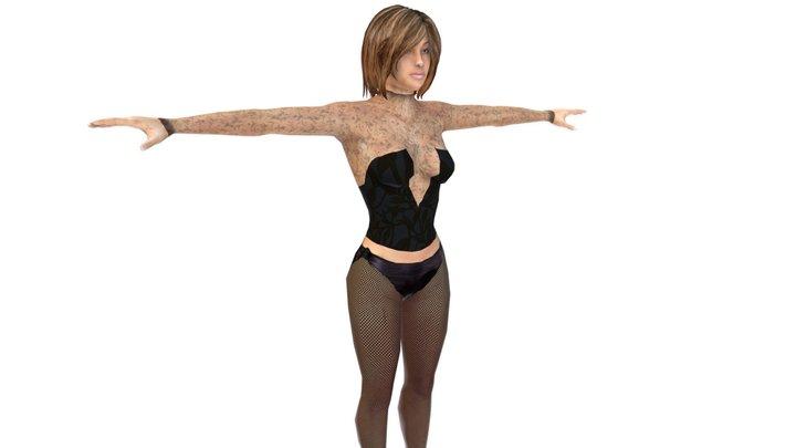Girl in Lingerie 3D Model