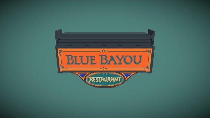 Disneyland Blue Bayou Restaurant Sign 3D Model