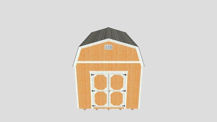 Lofted Barn 10x16 3D Model