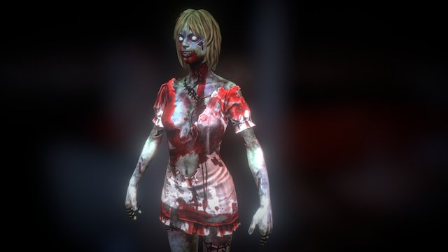 Tera + CSonline collaboration Light zombie 3D Model