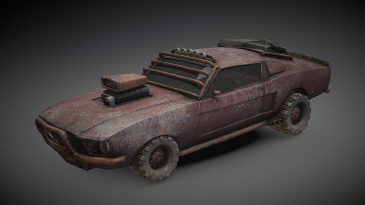 Mad Max Mustang 3D Model