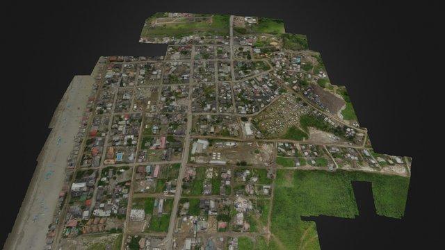City of Canoa, Ecuador - Earthquake 2016 3D Model
