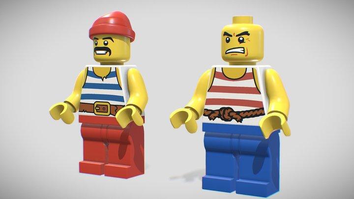 Lego Minifigures 3D Model