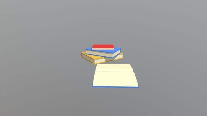Books - Household Props Challenge 3D Model