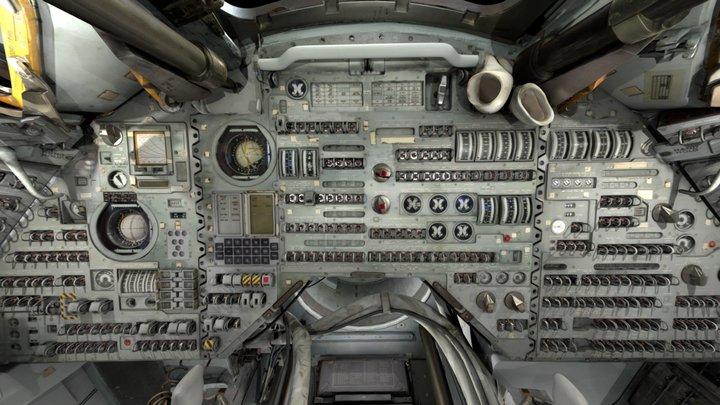 Apollo Command Module Interior Sphere Projection 3D Model