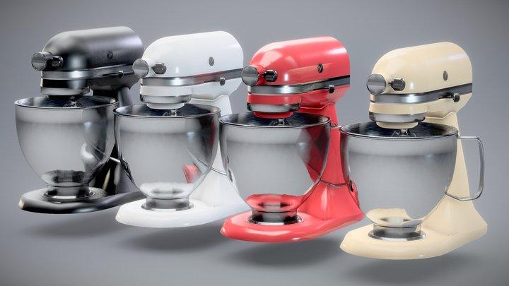 Food Stand Mixer - Artisan KitchenAid Low-poly 3D Model