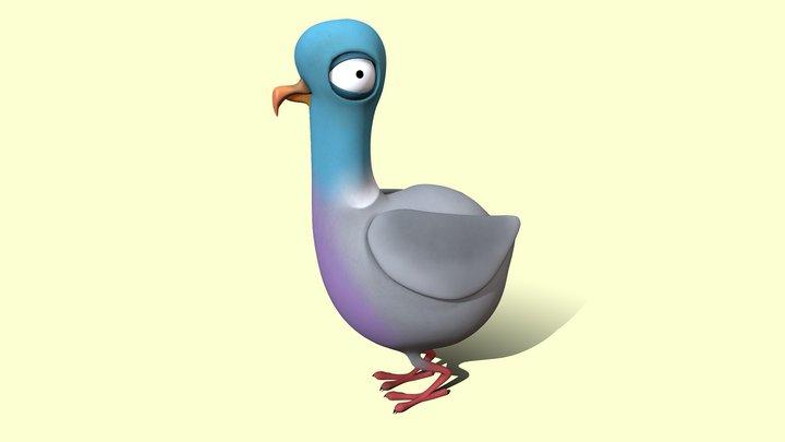 Percy Pigeon 3D Model