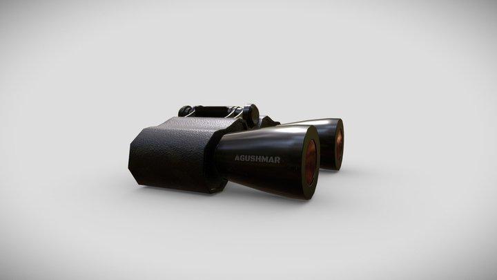 Camouflaged safari binoculars 3D Model