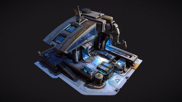 SPACE LAB 3D Model