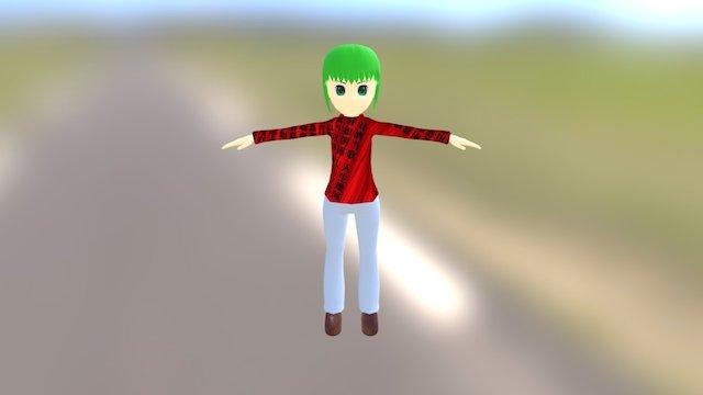 Kanari Yoyo (鹿鳴よよ) FBX modeling with Blender 3D Model