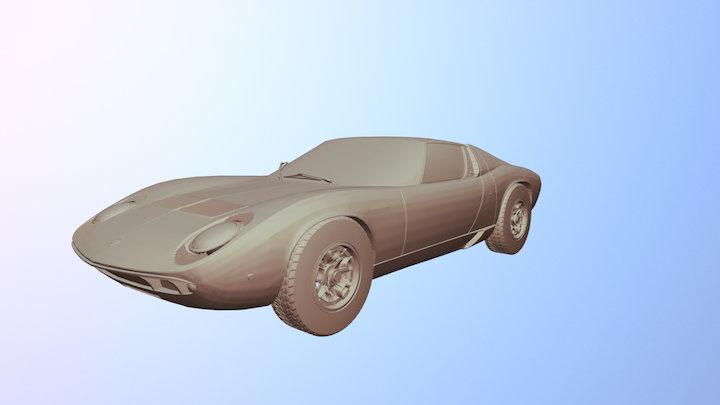 Lamborghini Miura 3D Model