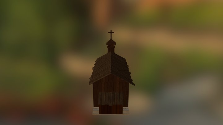 LowPoly Church 3D Model