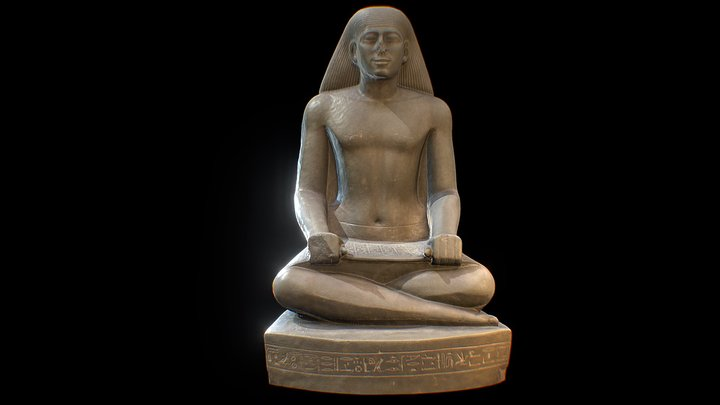 Seated statue of Nespekashuty 3D Model