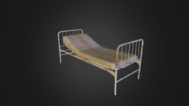 Hospital bed + Mattress from PERTURBIA 3D Model