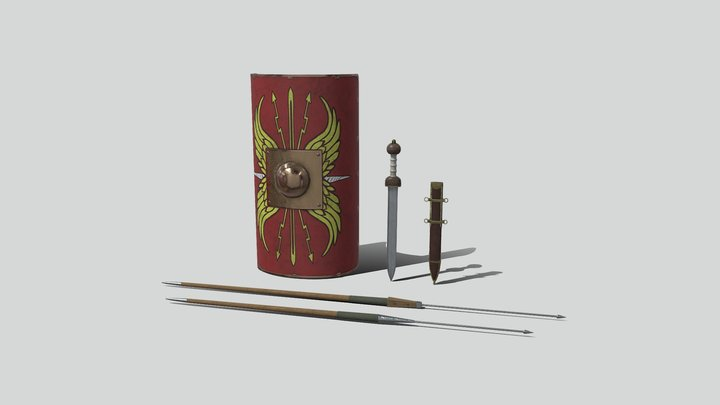 Roman Weapons Pack 3D Model