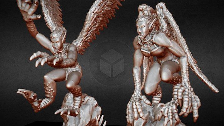 3D printable Harpies 3D Model