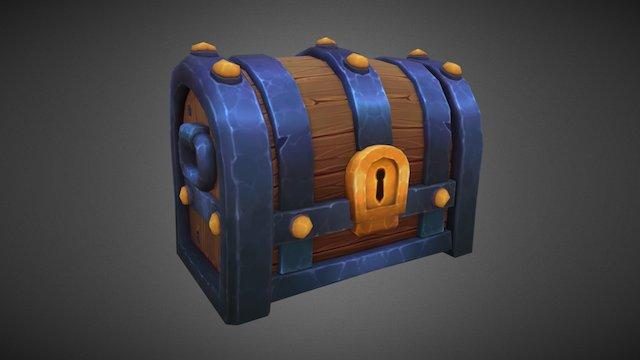 Stylized Treasure Chest 3D Model