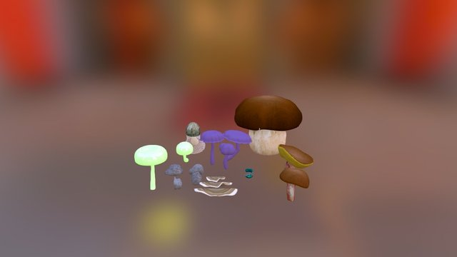 Donemushrooms 3D Model