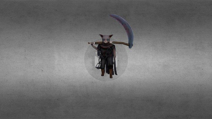 Fantasy Character - Thanatos ATTACK LOOP 3D Model