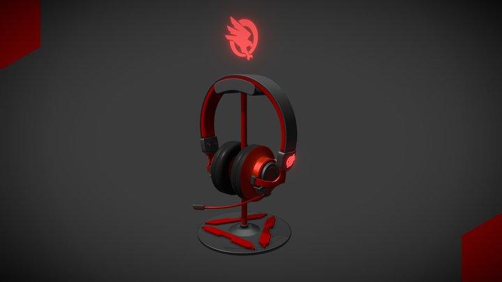 Gaming headphones 3D Model