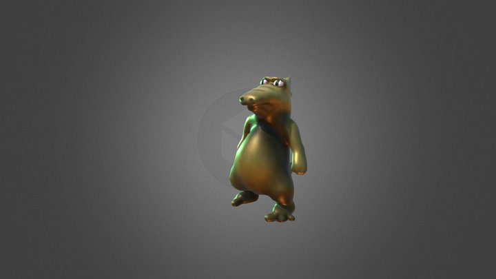 Microzavr - animated character for unity3d. 3D Model