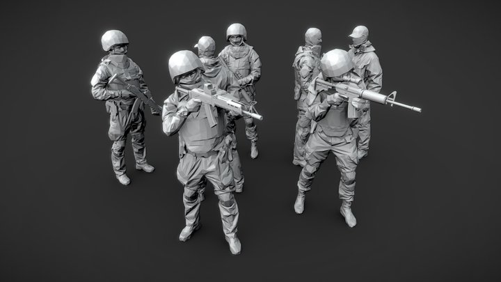 Lowpoly Special Forces 3D Model