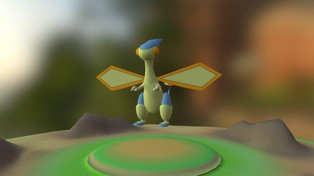 Flygon(fly)(Shiny) - SMD Update - Pixelmon 4.2.3 3D Model