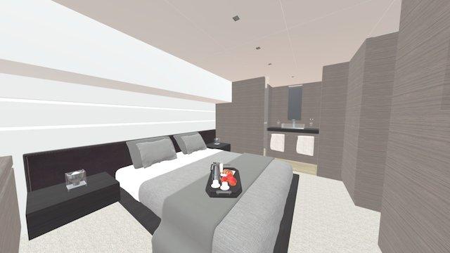 Yacht cabin 3D Model