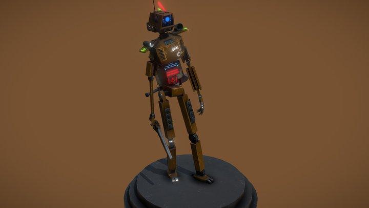 Cyberpunk Police bot [Animation ready] 3D Model