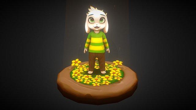 Kid Asriel 3D Model