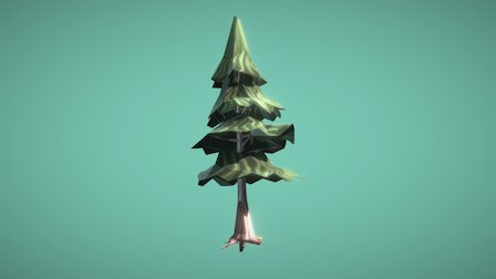 Spruce Tree - Low Poly 3D Model