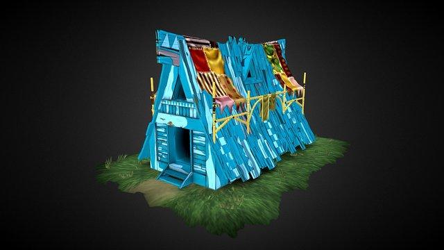 Blue Building 3D Model