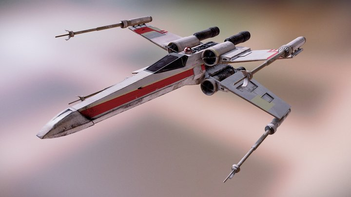 Game ready X-wing fighter - Star Wars 3D Model