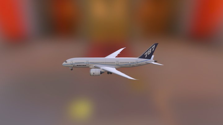 Boeing787 3D Model