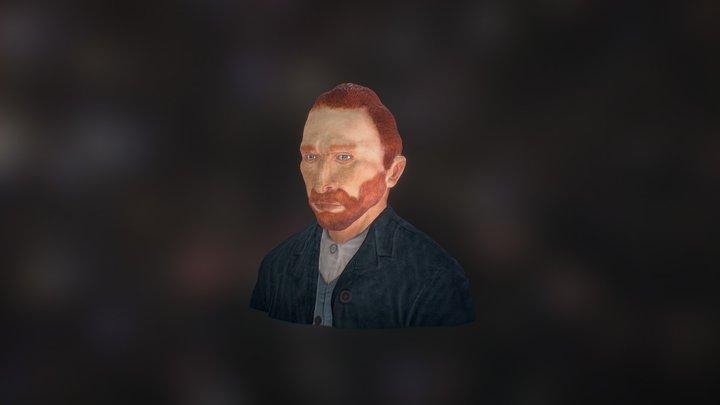 Vincent Van Gogh - Realistic Character Bust 3D Model