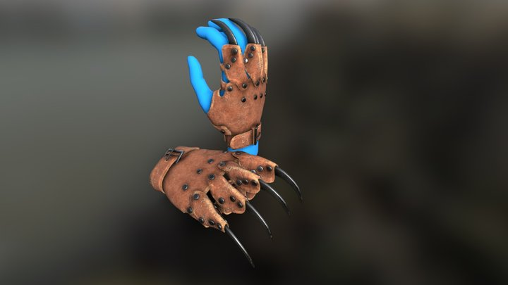Claws Gauntlet 3D Model