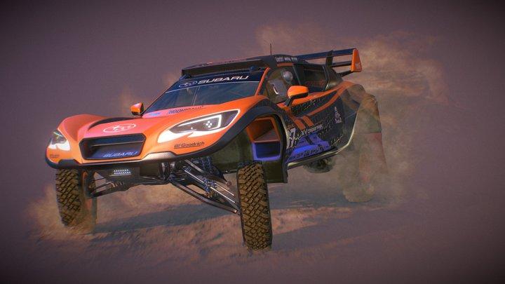 2019 Subaru XV Crosstrek Dakar Rally Raider 3D Model