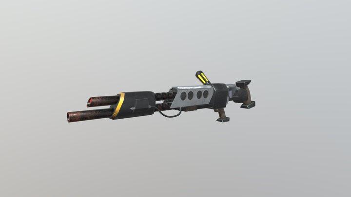 Jak Blaster Gun 3D Model