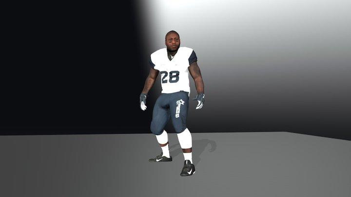 London Blitz American Football Star Temi Oduyemi 3D Model