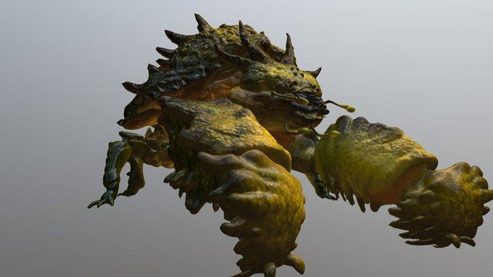RCA 3D/ creature 02 v2 3D Model