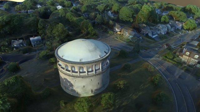Park Circle Water Tower - Arlington, MA 3D Model