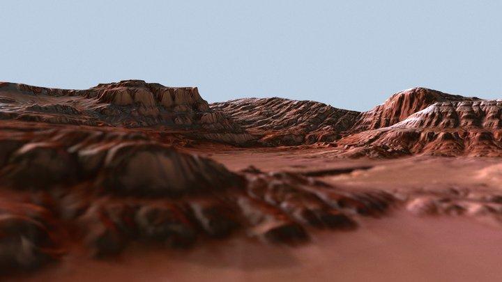 [Mars] A Rocky Area (WorldMachine Terrain #3) 3D Model