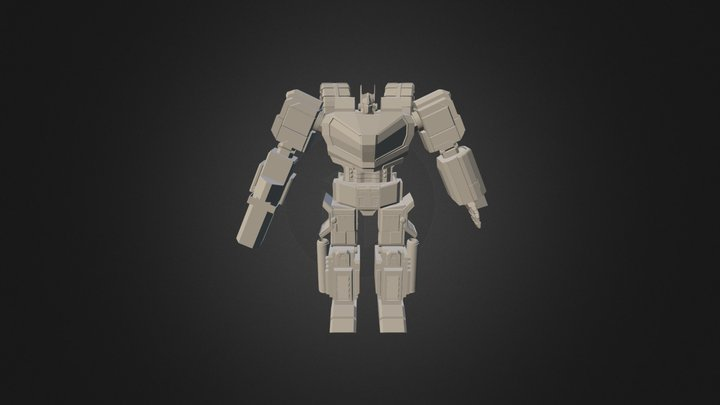 OptimusWFC With Rifle 3D Model