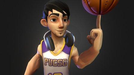 Basketball Player - Gugu 3D Model