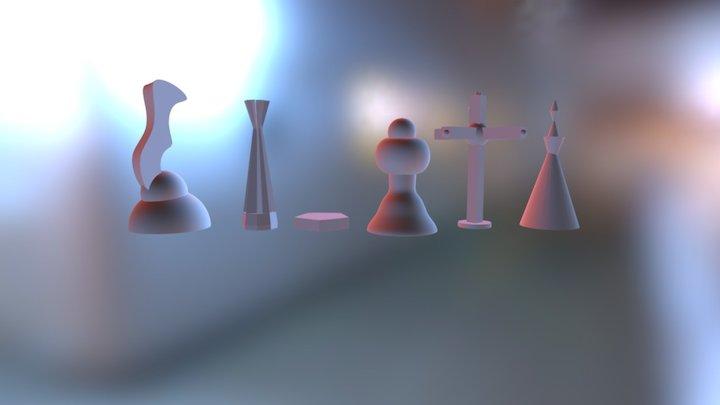 Chess Set 3D Model