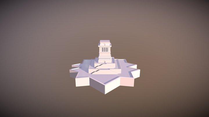 Statue Of Liberty Base 3D Model