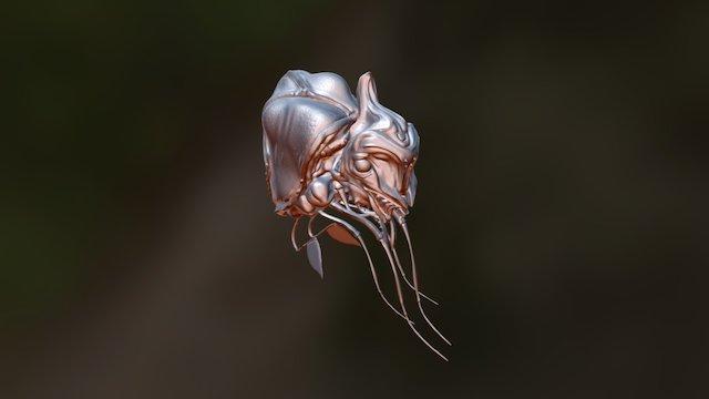 Kaiju Larva 3D Model