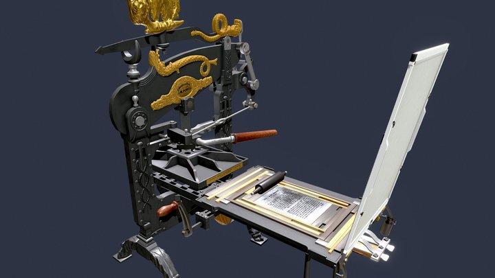 Columbian Press No 3180 3D Model